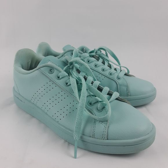 Adidas Neo Cloudfoam Baby Blue Leather Shoes